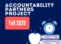 "blue background with text: ""Accountability partners Project Fall 2020"""