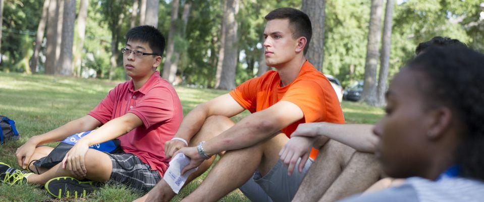 Duke students listening