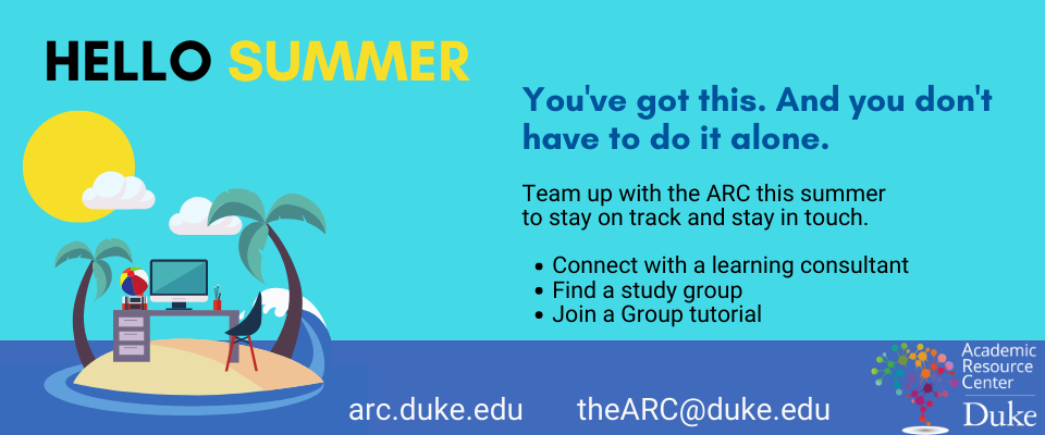 Hello Summer. Visit the ARC online to find out how we can help you this summer
