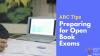 ARC Tips: Preparing for Open Book Exams